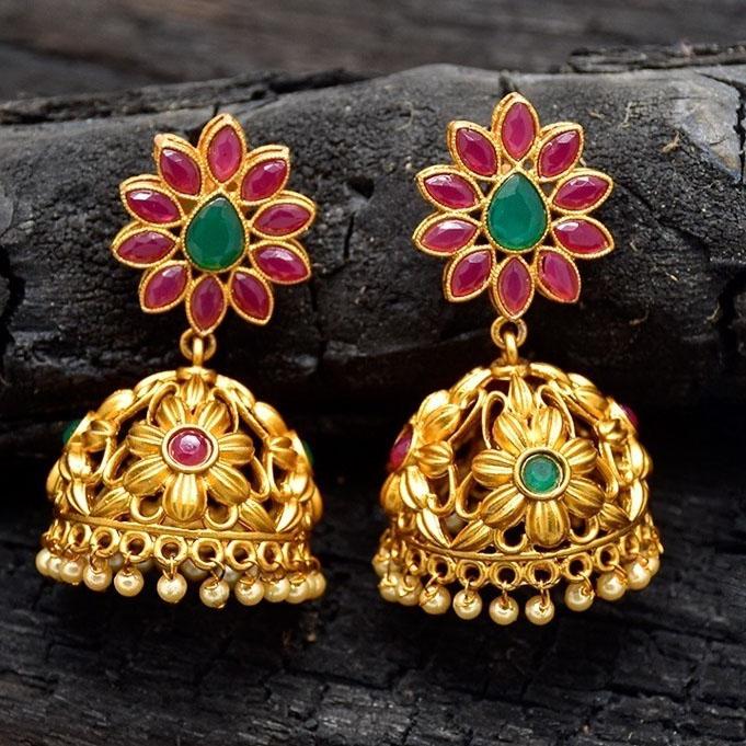 Matte Jhumka Earrings